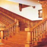 Cầu thang gỗ Lim
