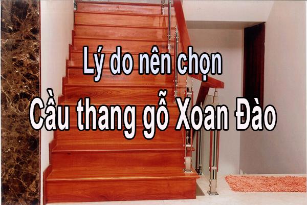 Cau thang go Xoan Dao lan can kinh